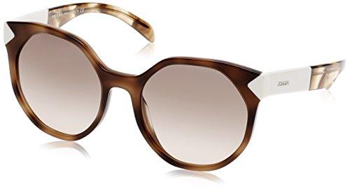 Prada Women's 0PR 11TS Striped Dark Brown/Light Brown Gradient - Sunglasses Prada Designer