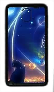 Samsung Galaxy Note 3 N9000 TPU Supple Shell Case Space Cat Black Skin by Sallylotus