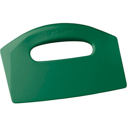 Remco 69602 Green Polypropylene Stiff Bench Scraper, Injection Molded Blade, 5