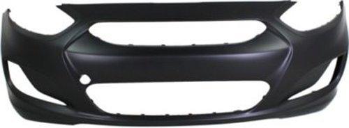 Crash Parts Plus Primed Front Bumper Cover Replacement for 2012-2013 Hyundai Accent ()