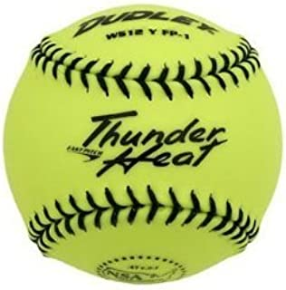 Dudley 4e-203y Soft Ball Practice Ball Thunder Heat – Jaune – 12 inch