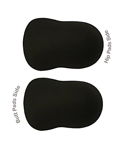 SODACODA® Pants Pads Replacement for Boyshort Padded Hip and Butt Enhancer!PADS ONLY! Schwarz