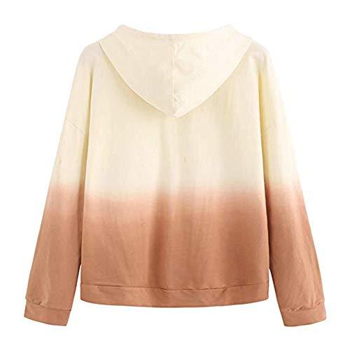 Shirt Capuche Blouse d'pissure T Imprim AIMEE7 Jaune Femme Manche Longue Tops Sweat 6nan8R7f