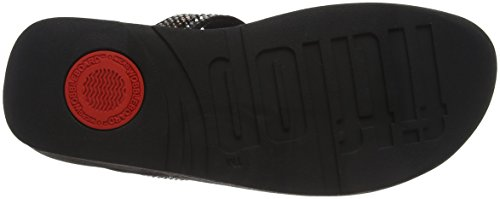 Noir Sandals 1 Ouvert FitFlop Bout Toe Strobe Femme Thong Black Luxe 8AwR44qf