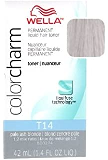 wella color charm toner t14 pale ash blonde 14 oz pack - Wella Color Charm