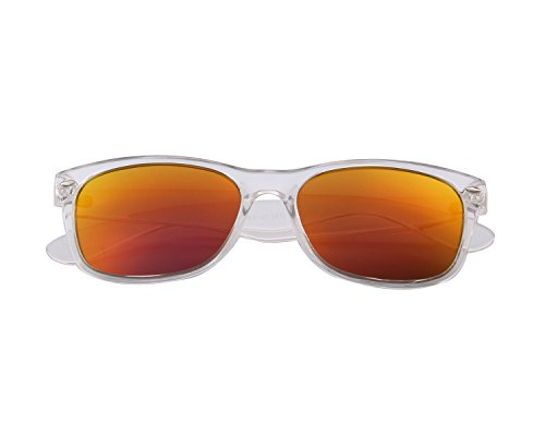MERRY'S Polarized Unisex Shades Sunglasses for Men Vintage Polarized Sun Glasses S683 (Frost Red, 53)
