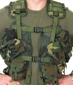 Ultimate Arms Gear Woodland Camo - Enhanced Tactical Load Bearing Vest