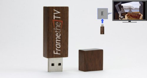 FrameTheTV High Definition TV Art on a USB Drive - Modern...