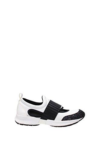 Sneakers Armani Bianco Tessuto Donna Jeans Eu 9251817p572 na6qH0Rqw
