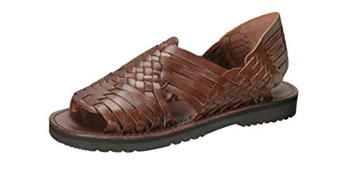 Brand X Huaraches Pachuco Leather Sandal (11, Brown)
