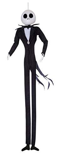 Jack Skeleton Halloween Decorations (Disney The Nightmare Before Christmas Jack Skellington Full Size Poseable Hanging Character Decoration,)