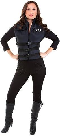 Underwraps Women's Lady Swat, Black, (Swat Team Abbigliamento)