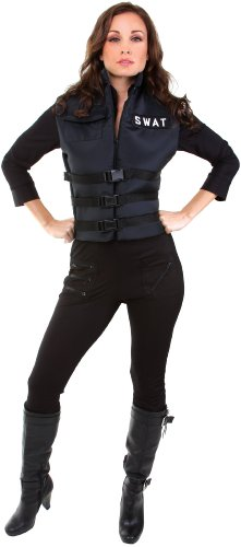 Underwraps Women's Lady Swat, Black, (Swat Costumes For Women)