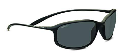 Serengeti Sestriere Sunglasses Satin Black Unisex-Adult Small/Medium (Serengeti Satin Sunglasses)