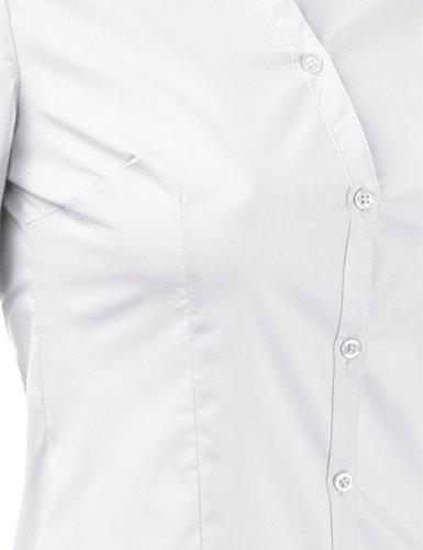 Doublju Womens Slim Fit Business Casual Long Sleeve Button Down Dress Shirt White Medium by Doublju (Image #6)