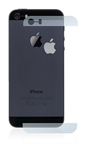 upscreen Scratch Shield Pellicola Protettiva Opaca Apple iPhone 5S Posteriore (superfici di vetro + logo) Protezione Schermo – Antiriflesso, Anti-Impronte