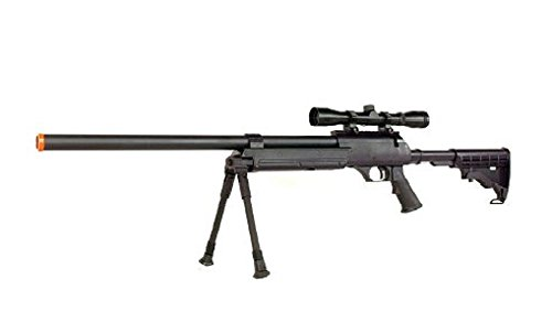 Well MB06 SR-2 Tactical Airsoft Sniper Rifle w/ 3-9x40 Scope & Bipod Bolt Action Airsoft Sniper by Well