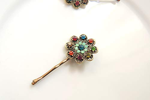 Lovely Vintage style Flower Gold Hair Clip, hair pin, for your hair or scarf