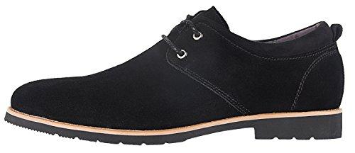 Chaussures Oxford En Cuir Suédé Casual Pour Homme Dilovesia Noir