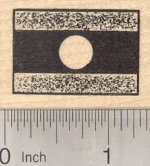 Flag of Laos Rubber Stamp