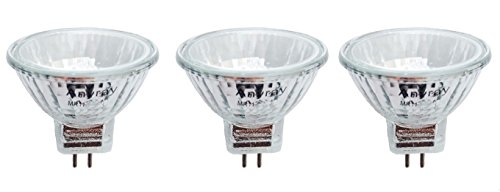 Anyray A1869Y (3-lamps) 20W MR11+C BAB Halogen Flood Light Bulbs 12V Lamp 20 Watt