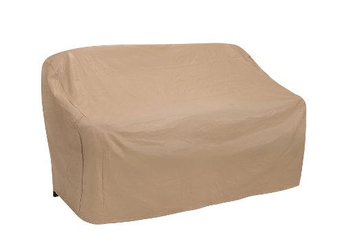 Protective Covers Weatherproof 2 Seat Wicker/Rattan Sofa Cover, X Large, Tan - - Tan Shopper