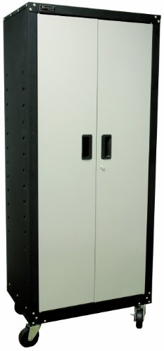 Homak 2 Door Tall Mobile Cabinet with 4 Shelves, Steel, GS00765021 (Cabinet Mobile Steel)