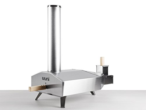 Wood Fired Oven - Ooni 3 Portable Wood Pellet Pizza Oven W/ Stone and Peel, Stainless Steel