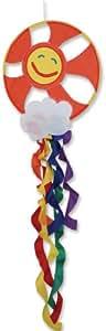 Premier Kites 23413 Wind Garden Dream Catcher Wind Spinner, Sun and Rainbow