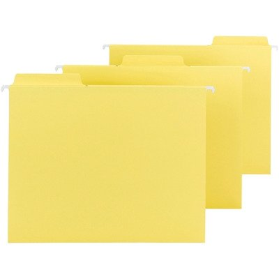 Hanging Fastab 64097 - Smead 64097 Yellow FasTab Hanging Folders - Letter - 8.50quot; Width x 11quot; Length Sheet Size - 1/3 Tab Cut - Assorted Position Tab Location - 11 pt. - Yellow - 20 / Box