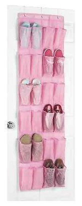 PINK Fashion Polypro  Over-the-Door Shoe Organizer, Pink