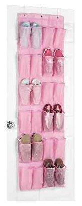 Whitmor Polypro Over the Door Shoe Organizer, Pink