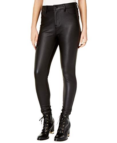 Celebrity Pink Juniors' Faux-Leather Pants (Black Rinse, 7)