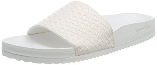 Flip Flop Pool*Braid Metallic, Women's Heels Sandals White (White 1000)