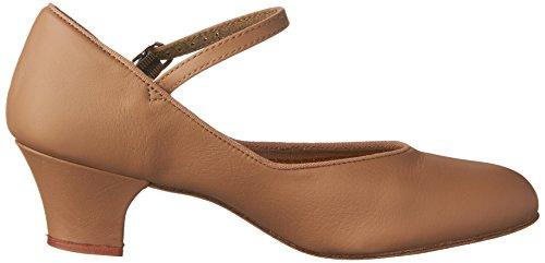 Capezio Women's 459 Suede Sole Jr. Footlight Character Shoe Caramel cheap sale best buy cheap high quality cheap sale collections latest sale online E5eifY