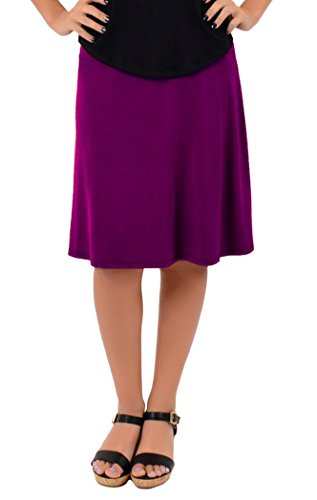 (Stretch is Comfort Women's A-Line Skirt Purple Small)