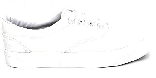 Drøm Søke Store Barn / Kvinner / Menns Unisex 717 Lerret Snøring Mote Sneaker Sko Hvite (kvinner)