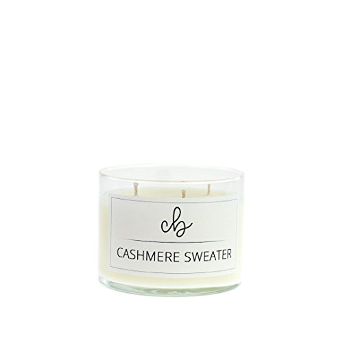 Candle Ounce 10.5 - CandleBox Store Handmade Scented Soy Wax Candle, Cashmere Sweater, 10.5 Ounces