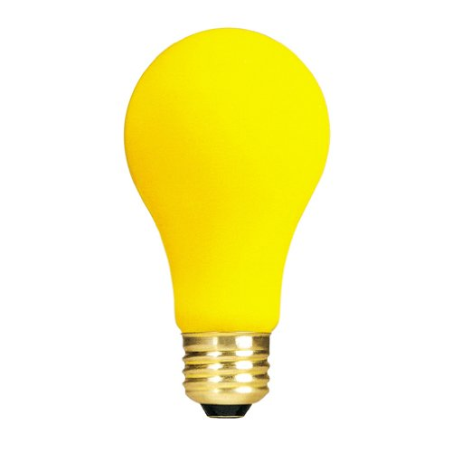 Bulbrite 25A/YB 25-Watt 130-Volt Long Life Incandescent Bug Light