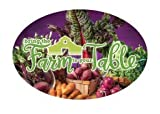 3'' x 2'' Big Oval Nutrition Stickers ''Bring the Farm to the Table''