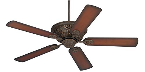52 Casa Contessa Ceiling Fan Bronze and Copper Shaded Cherry for Living Room Kitchen Bedroom Family Dining – Casa Vieja