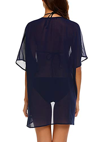 e9453303b1 wearella Women's Lace Kimono Robes Swimsuit Cover Up Mesh Babydoll Lingerie  Sheer Nightgown