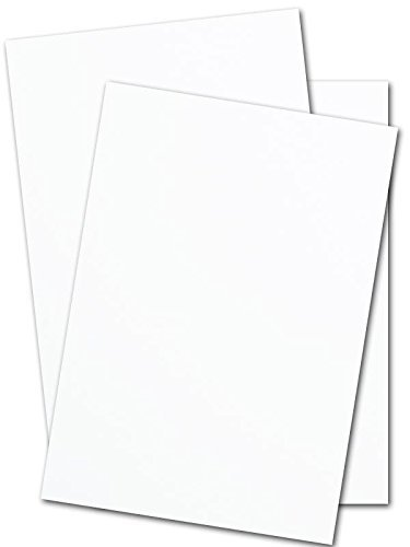 Heavy White Card Stock - 17'' x 11'' Premium 80 Lb. Cover Super Smooth - Great for Printing (250 Sheets) by CutCardStock