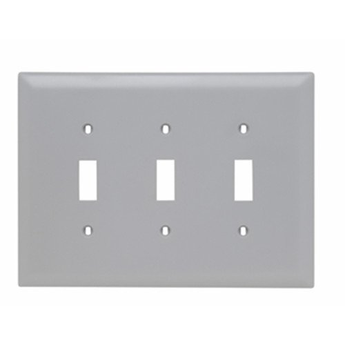Legrand - Pass & Seymour TPJ3GRY Pass and Seymour Trademaster WP Jumbo 3G 3TOG (Junior Wall Plate)