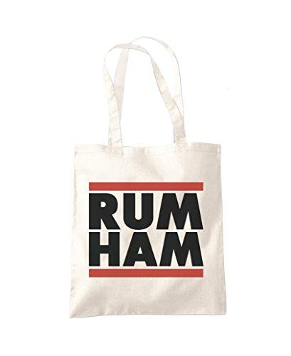 Fashion HAM Natural Tote Shopper Bag RUM qU0aP6wU