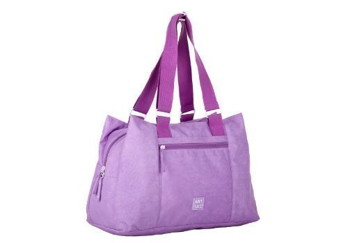 Bag Two Lilac Handbag Sac Tote Handled Travel Nylon Art by q7qwIF