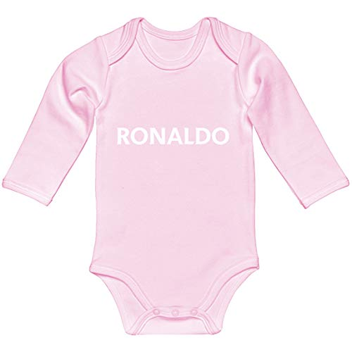 Indica Plateau Baby Romper Ronaldo Light Pink for Newborn Long-Sleeve Infant Bodysuit ()