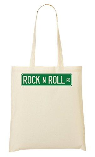 ShutUp Rock'n'Roll Road Sign Bolso De Mano Bolsa De La Compra