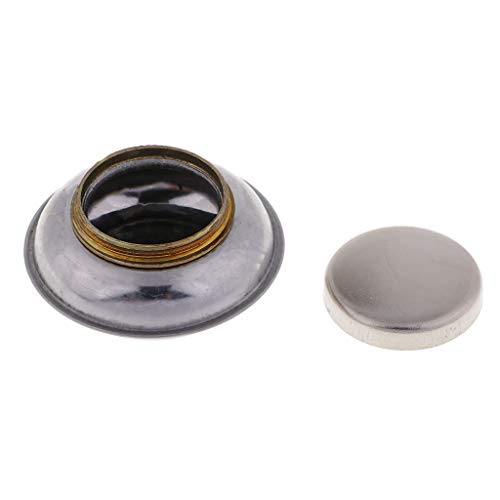 Fenteer Artists Mini Metal Single Dipper Palette Clip Container Oil Cup with Secure Screw Lid and can take All Kinds of solvents, Painting Mediums