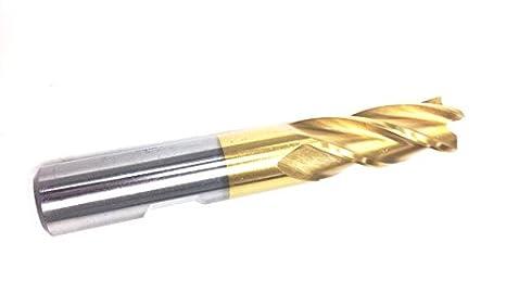 HHIP 5835-1002 1 x 1 4 Flute M42 Cobalt Single End Center Cut End Mill